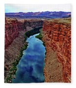 Colorado River From The Navajo Bridge 001 Fleece Blanket