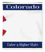 Colorado State License Plate Fleece Blanket