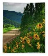 Colorado Wildflowers Fleece Blanket by John De Bord