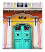 Colorful Door Fleece Blanket