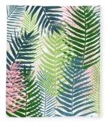 Colorful Palm Leaves 2- Art By Linda Woods Fleece Blanket
