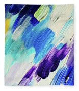 Colorful Rain Fragment 1. Abstract Painting Fleece Blanket