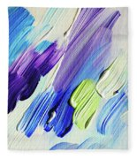 Colorful Rain Fragment 2. Abstract Painting Fleece Blanket
