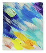 Colorful Rain Fragment 5. Abstract Painting Fleece Blanket
