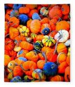 Colorful Tiny Pumpkins Fleece Blanket