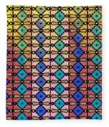 Coloured Glass Window Fleece Blanket