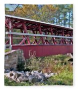 Colvin Covered Bridge Fleece Blanket