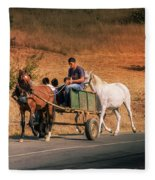 Come Back Home Before Dusk Fleece Blanket