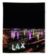 Coming And Going In The Heart Of L A At Night-time Fleece Blanket