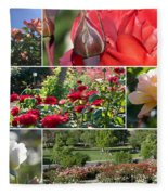 Coming Up Roses Fleece Blanket