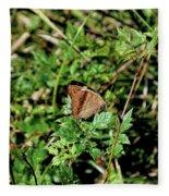 Common Buckeye Butterfly Fleece Blanket