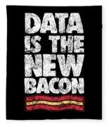 Computer Big Data Bacon Geek Pun Apparel Fleece Blanket