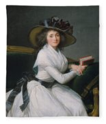 Comtesse De La Chatre Later Marquise De Jaucourt  Fleece Blanket