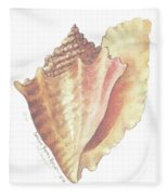 Conch Shell Fleece Blanket