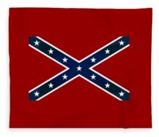 Confederate Stars And Bars T-shirt Fleece Blanket