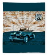Convertible Vintage Car Fleece Blanket