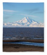 Cook Inlet And The Alaska Range From Ninilchik Fleece Blanket