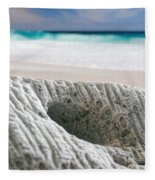 Coral By The Sea Fleece Blanket