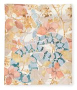 Coral Spring Garden Fleece Blanket