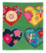 Corazon 1- Art By Linda Woods Fleece Blanket