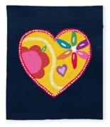Corazon 4- Art By Linda Woods Fleece Blanket
