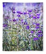 Cornflower Meadow Fleece Blanket by Susan Maxwell Schmidt