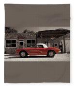 Corvette Cafe - C1 Fleece Blanket