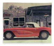 Corvette Cafe - C1 - Vintage Film Fleece Blanket