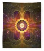 Cosmic White Hole - Star Factory Fleece Blanket by Shawn Dall
