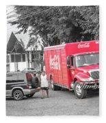 Costa Rica Soda Truck Fleece Blanket