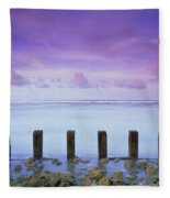 Cotton Candy Skies Over The Sea Fleece Blanket