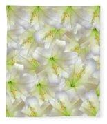 Cotton Seed Lilies Fleece Blanket