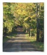 Country Road In Fall Fleece Blanket