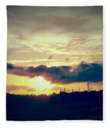 Country Sunset In Pavo Fleece Blanket