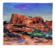 Courthouse Butte Rock - Sedona Fleece Blanket