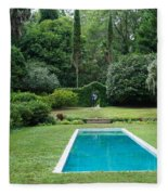 Courtyard Entrance Fleece Blanket