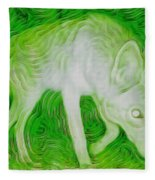 Coyote On The Trail Fleece Blanket by Judy Kennedy