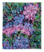 Cozy Hydrangeas Fleece Blanket