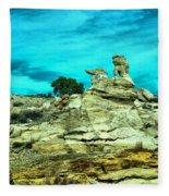 Crazy Rock Formations In New Mexico Fleece Blanket