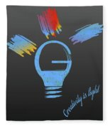 Creativity Is Light Fleece Blanket