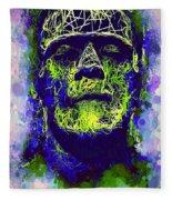 Frankenstein Watercolor Fleece Blanket