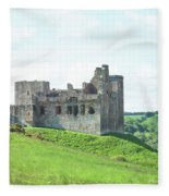 Crighton Castle In Summer Fleece Blanket