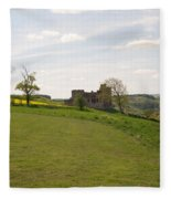 Crighton Castle Ruins And Hills, Midlothian Fleece Blanket