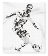 Cristiano Ronaldo Juventus Pixel Art 1 Fleece Blanket
