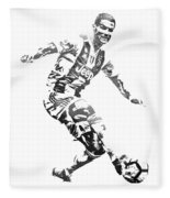 Cristiano Ronaldo Juventus Water Color Pixel Art 3 Fleece Blanket