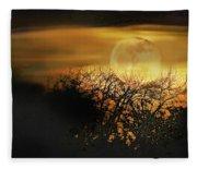 Crows Nest Full Moon Fleece Blanket