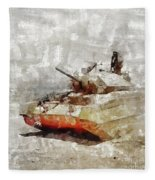 Crusader Tank, World War Two Fleece Blanket