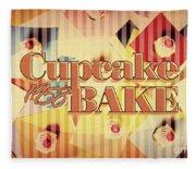 Cupcake Bake 1958 Fleece Blanket