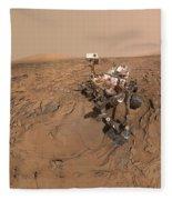 Curiosity Selfie Fleece Blanket