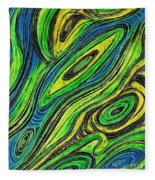 Curved Lines 5 Fleece Blanket
